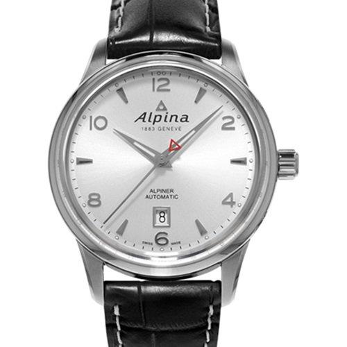 アルピナ/Alpina/腕時計/ALPINER AUTOMATIC/メンズ/スイスメイド/AL-525S4E6/シルバー×ブラック