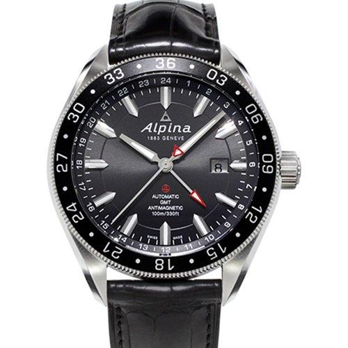アルピナ/Alpina/腕時計/Alpiner 4コレクションGMT/メンズ/スイスメイド/AL-550G5AQ6/ブラック×ブラック