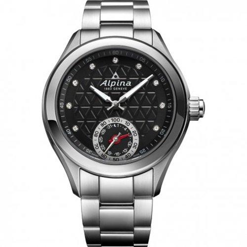アルピナ/Alpina/腕時計/HOROLOGICAL SMARTWATCH/レディース/スイスメイド/AL-285BTD3C6B/黒の編み縄模様ダイアル
