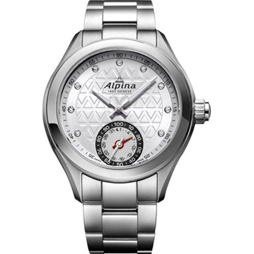 アルピナ/Alpina/腕時計/HOROLOGICAL SMARTWATCH/レディース/スイスメイド/AL-285STD3C6B/シルバーの編み縄模様ダイアル