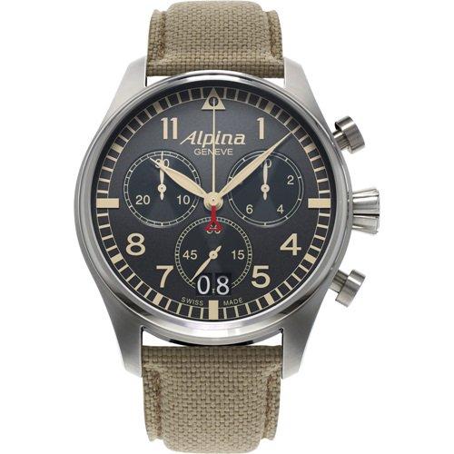 アルピナ/Alpina/腕時計/STARTIMER PILOT/メンズ/スイスメイド/AL-372BGR4S6/クロノグラフ/グレー