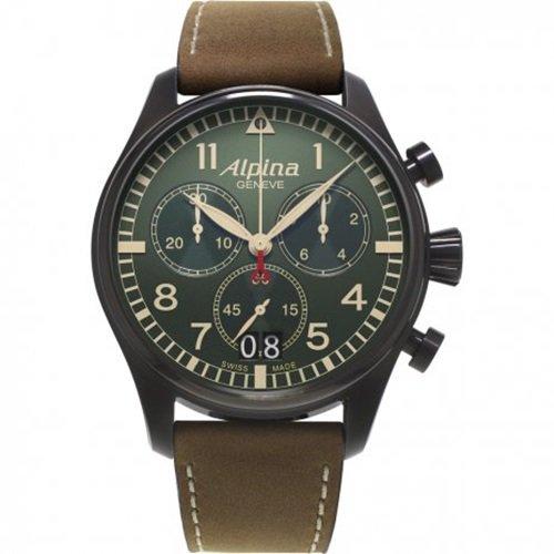 アルピナ/Alpina/腕時計/STARTIMER PILOT/メンズ/スイスメイド/AL-372GR4FBS6/クロノグラフ/グリーン