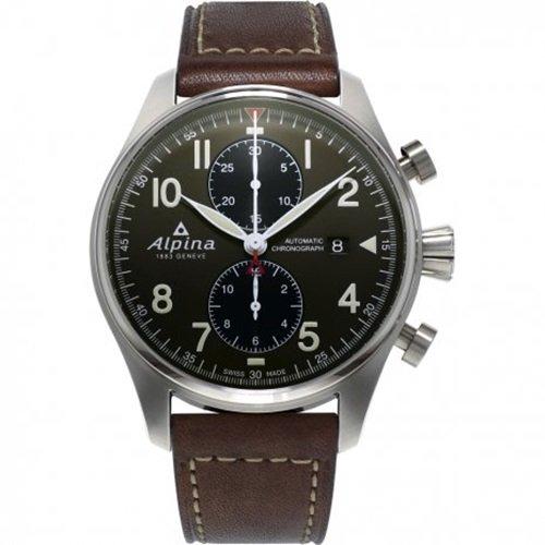 アルピナ/Alpina/腕時計/STARTIMER PILOT/メンズ/スイスメイド/AL-725GR4S6/クロノグラフ/ミリタリーグリーン