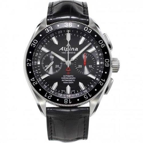 アルピナ/Alpina/腕時計/Alpiner 4コレクション/メンズ/スイスメイド/AL-860B5AQ6/クロノグラフ/ブラック×ブラック