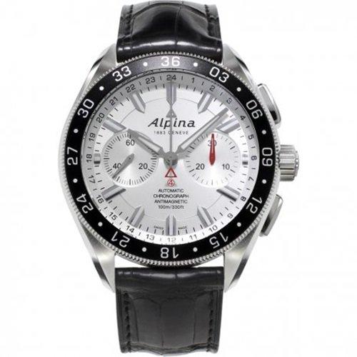 アルピナ/Alpina/腕時計/Alpiner 4コレクション/メンズ/スイスメイド/AL-860S5AQ6/クロノグラフ/シルバー×ブラック