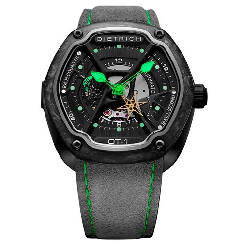 ディートリヒ/Dietrich1969/腕時計/ORGANIC TIME/OT-1 FORGED CARBON/メンズ/スイスメイド/ブラック×グレー