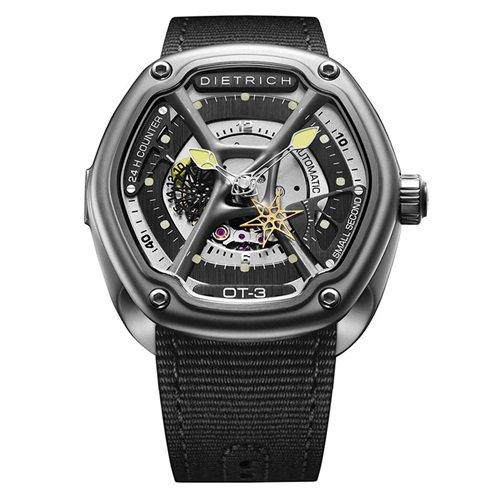 ディートリヒ/Dietrich1969/腕時計/ORGANIC TIME/OT-3/メンズ/スイス/ブラック×ブラック×イエロー
