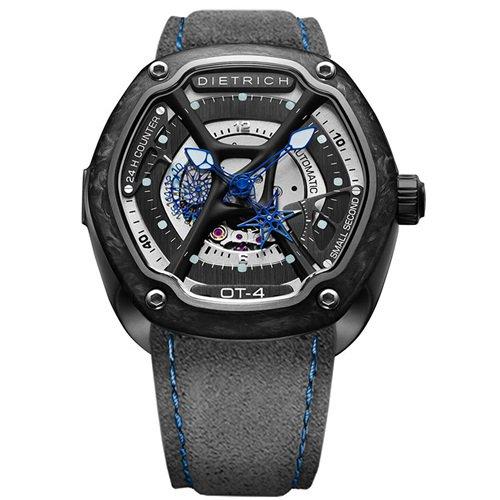 ディートリヒ/Dietrich1969/腕時計/ORGANIC TIME/OT-4/メンズ/スイス/カーボンベゼル/ブルー