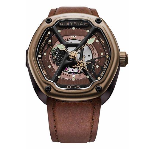 ディートリヒ/Dietrich1969/腕時計/ORGANIC TIME/OT-5/メンズ/スイス/ブラウン×銅色ダイアル