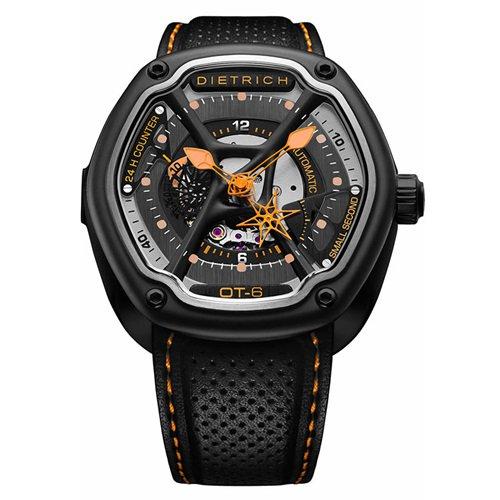 ディートリヒ/Dietrich1969/腕時計/ORGANIC TIME/OT-6/メンズ/スイス/ブラック×オレンジ