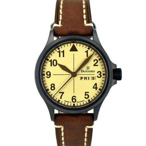 ダマスコ/Damasko/腕時計/ヴィンテージ/DA20 BLACK VINTAGE/ドイツメイド/サンドカラー×ブラウン