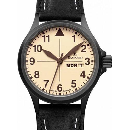 ダマスコ/Damasko/腕時計/ヴィンテージ/DA20 BLACK WITH BLACK LEATHER/ドイツメイド/サンドカラー×ブラック