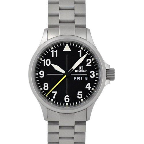 ダマスコ/Damasko/腕時計/クラシック/DA36 WITH BRACELET/ドイツメイド/オートマティック/ブラックダイアル×シルバーブレスレット