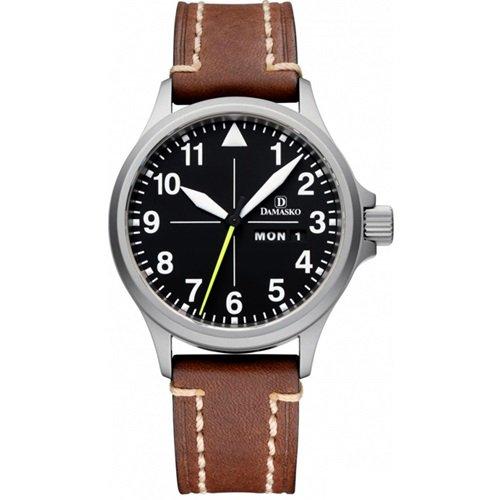 ダマスコ/Damasko/腕時計/クラシック/DA36 WITH LIBERTY/ドイツメイド/オートマティック/ブラックダイアル×ブラウンレザー