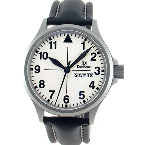 ダマスコ/Damasko/腕時計/クラシック/DA37/ドイツメイド/オートマティック/ホワイトダイアル×シルバーケース