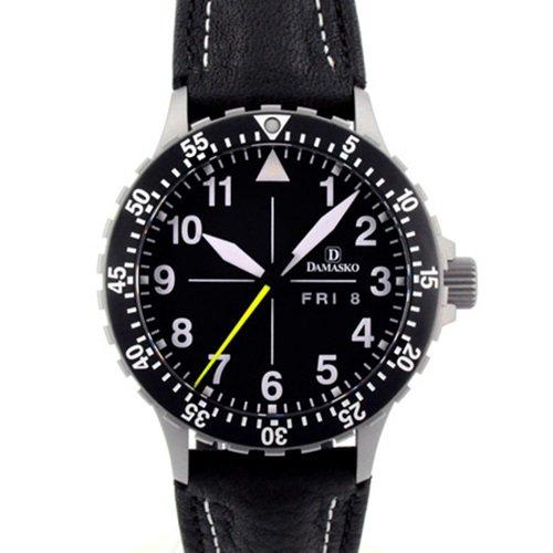 ダマスコ/Damasko/腕時計/クラシック/DA46/ドイツメイド/オートマティック/ブラックダイアル×ブラックレザー
