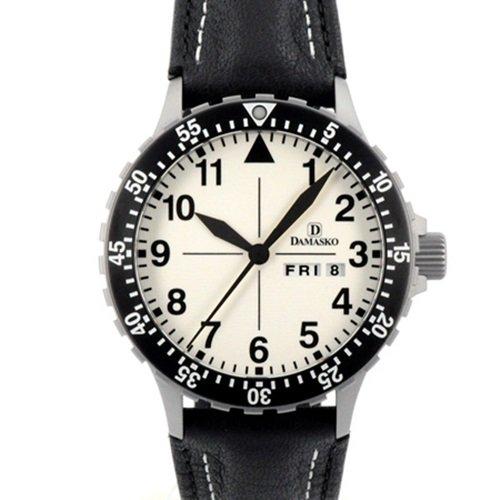ダマスコ/Damasko/腕時計/クラシック/DA47/ドイツメイド/オートマティック/ホワイトダイアル×ブラックレザー
