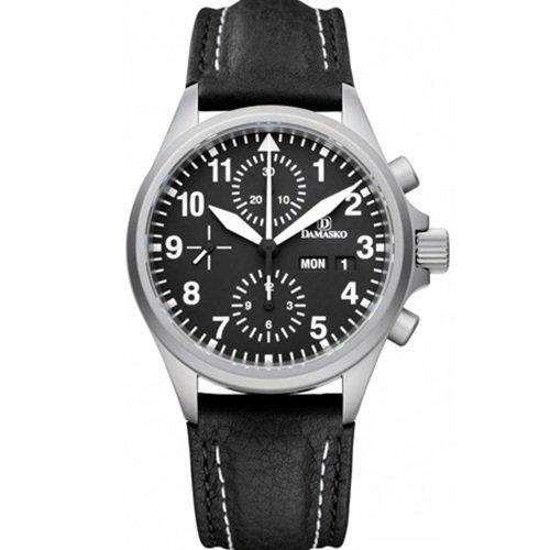 ダマスコ/Damasko/腕時計/スポーティ/DC56/ドイツメイド/オートマティック/クロノグラフ/ブラック×ブラック