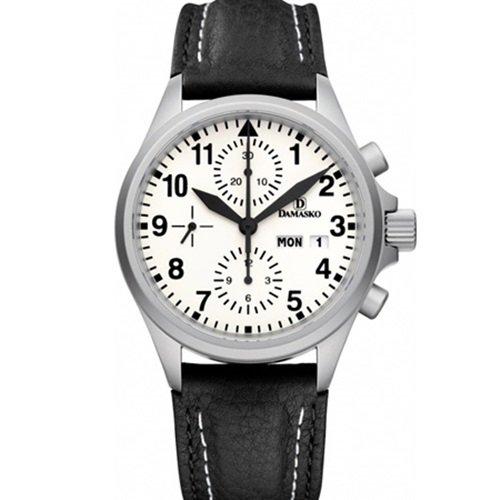 ダマスコ/Damasko/腕時計/スポーティ/DC57/ドイツメイド/オートマティック/クロノグラフ/ホワイト×ブラック