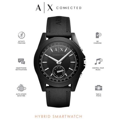 アルマーニエクスチェンジ/Armani Exchange/腕時計/スマートウォッチ/Hybrid Smartwatch/AXT1001/ブラック