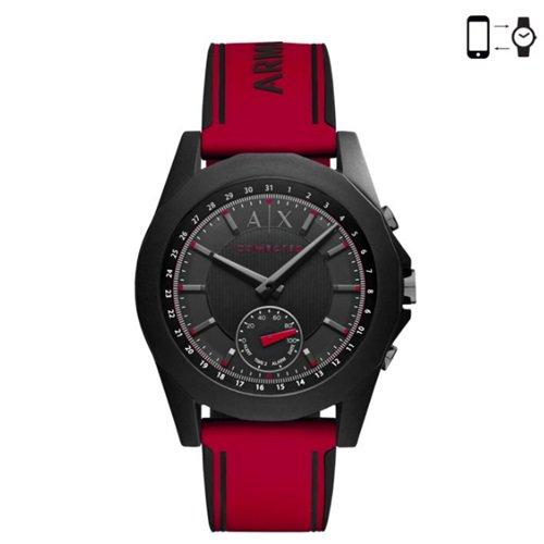 アルマーニエクスチェンジ/Armani Exchange/腕時計/スマートウォッチ/Hybrid Smartwatch/AXT1005/ブラック×レッド
