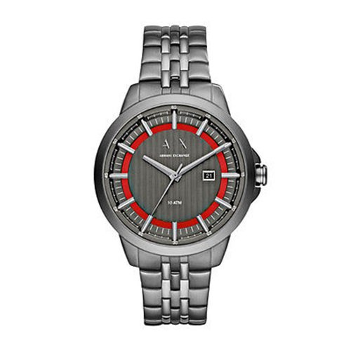アルマーニエクスチェンジ/Armani Exchange/腕時計/メンズ/Smart/AX2262/オールガンメタル/レッドリング