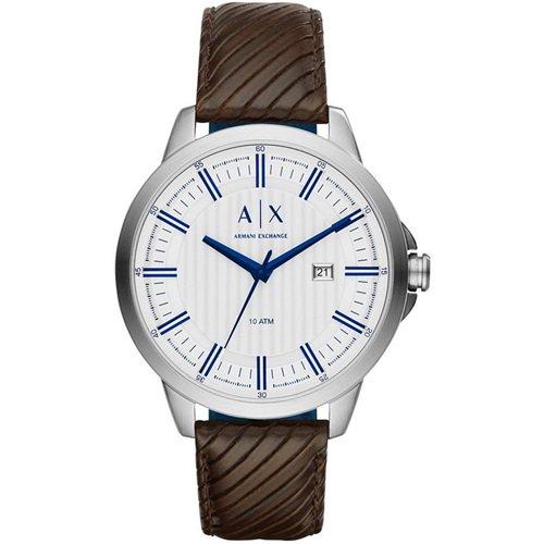 アルマーニエクスチェンジ/Armani Exchange/腕時計/メンズ/Smart/AX2263/シルバー/ブラウンレザー