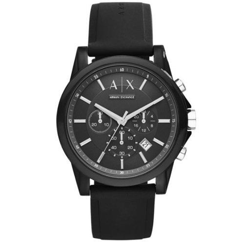 アルマーニエクスチェンジ/Armani Exchange/腕時計/メンズ/クロノグラフ/AX1326/シリコン/オールブラック