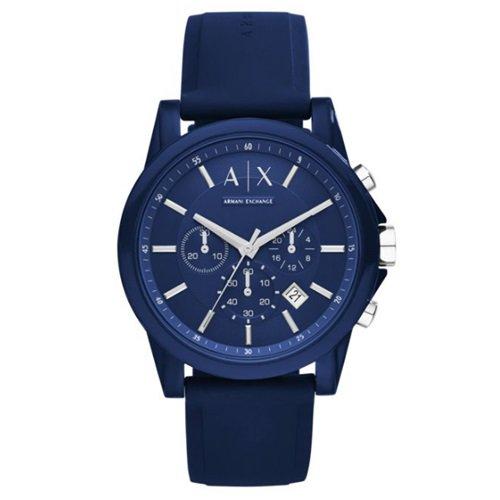 アルマーニエクスチェンジ/Armani Exchange/腕時計/メンズ/クロノグラフ/AX1327/シリコン/オールネイビーブルー