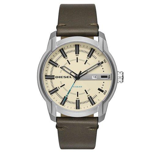 ディーゼル/Diesel/腕時計/ARMBAR/アームバー/メンズ/DZ1846/クリームダイアル×オリーブレザー