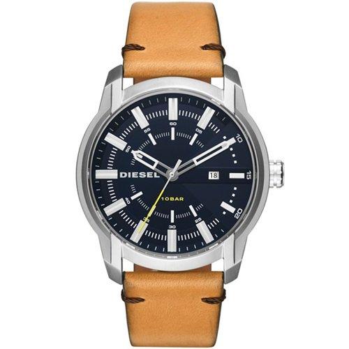 ディーゼル/Diesel/腕時計/ARMBAR/アームバー/メンズ/DZ1847/ネイビーダイアル×ブラウンレザー