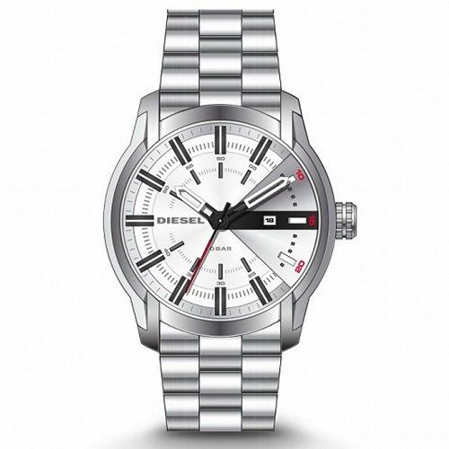 ディーゼル/Diesel/腕時計/ARMBAR/アームバー/メンズ/DZ1827/クォーツ/ホワイトダイアル×シルバースチール