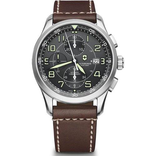 ビクトリノックス/VICTORINOX Swiss Army/腕時計/Airboss/エアボス/241597/オートマチック/クロノグラフ/ブラック×ブラウン
