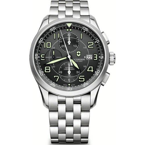 ビクトリノックス/VICTORINOX Swiss Army/腕時計/Airboss/エアボス/241620/オートマチック/クロノグラフ/ブラック×シルバー