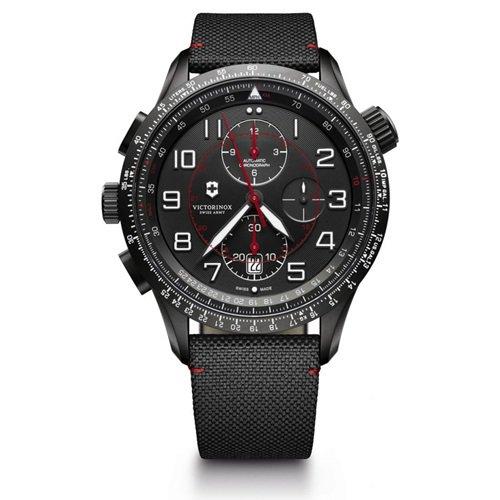 ビクトリノックス/VICTORINOX Swiss Army/腕時計/Airboss/エアボス/241716/オートマチック/クロノグラフ/ブラック×ブラック
