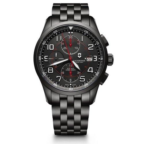 ビクトリノックス/VICTORINOX Swiss Army/腕時計/Airboss/エアボス/241741/オートマチック/クロノグラフ/日本未発売/ブラックスチール