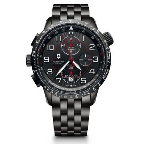 ビクトリノックス/VICTORINOX Swiss Army/腕時計/Airboss/エアボス/Mach 9/241742/オートマチック/クロノグラフ/日本未発売/ブラックスチール