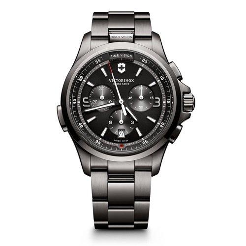 ビクトリノックス/VICTORINOX Swiss Army/腕時計/Night Vision/ナイトビジョン/メンズ/クロノグラフ/241730/ブラック