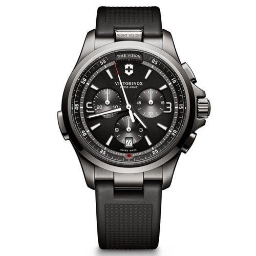ビクトリノックス/VICTORINOX Swiss Army/腕時計/Night Vision/ナイトビジョン/メンズ/クロノグラフ/241731/ブラックラバー
