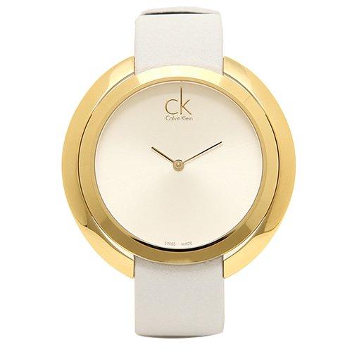 new concept 49501 32da5 Calvin Klein/カルバンクライン/レディース腕時計/アグレゲート/K3U235L6/ホワイト×ゴールド -  腕時計の通販ならワールドウォッチショップ