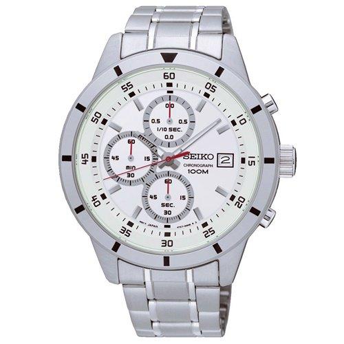 セイコー/SEIKO/逆輸入/腕時計/Chronograph/クロノグラフ/SKS557/メンズ/クォーツ/シルバーホワイト