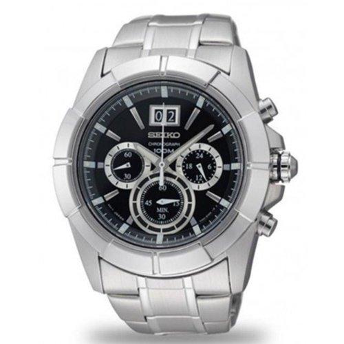 セイコー/SEIKO/逆輸入/腕時計/Chronograph/クロノグラフ/SPC099/メンズ/クォーツ/ブラック×シルバー