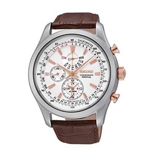 セイコー/SEIKO/逆輸入/腕時計/Chronograph/クロノグラフ/SPC129/メンズ/クォーツ/ホワイト×ブラウン