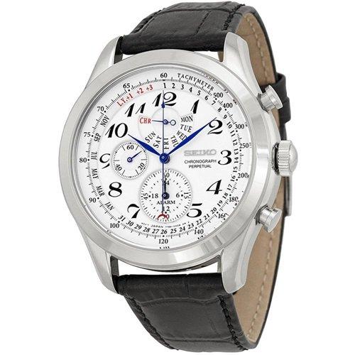 セイコー/SEIKO/逆輸入/腕時計/Chronograph/クロノグラフ/SPC131/メンズ/クォーツ/ホワイト×ブラック