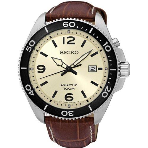 セイコー/SEIKO/逆輸入/腕時計/Kinetic/キネティック/SKA749/メンズ/オートクォーツ/ジャパンメイド/クリーム