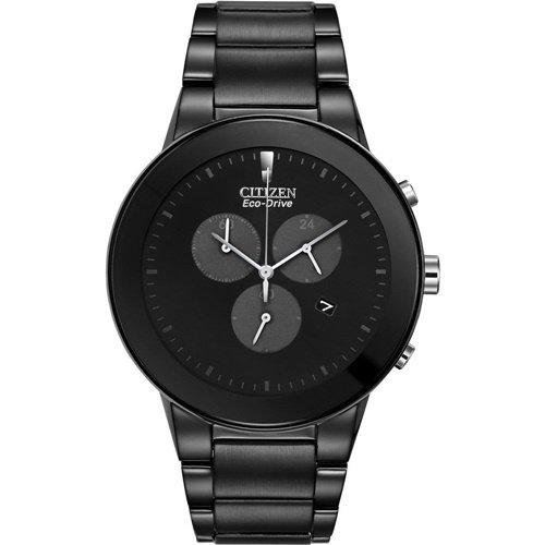 シチズン/CITIZEN/Axiom/アクシオム/腕時計/メンズ/AT2245-57E/エコドライブ/クロノグラフ/オールブラック