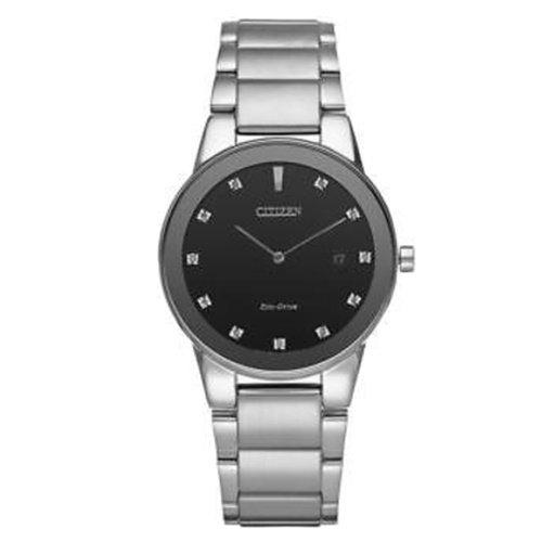 シチズン/CITIZEN/Axiom/アクシオム/腕時計/メンズ/AU1060-51G/エコドライブ/ブラック×ダイヤモンド
