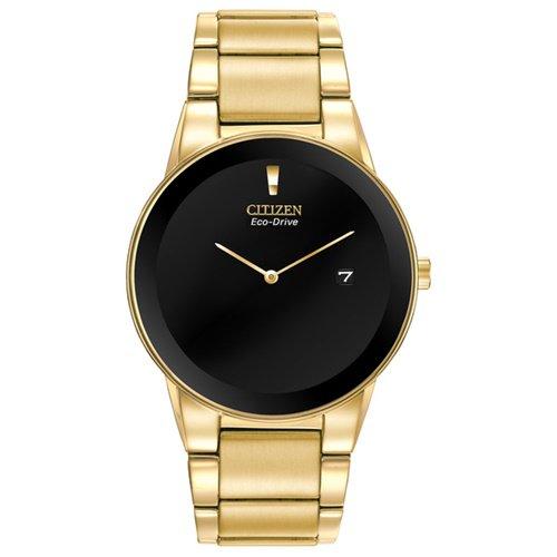 シチズン/CITIZEN/Axiom/アクシオム/腕時計/メンズ/AU1062-56E/エコドライブ/ブラック×ゴールド