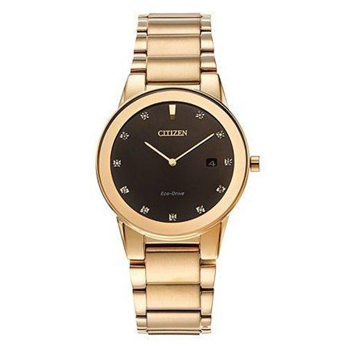 シチズン/CITIZEN/Axiom/アクシオム/腕時計/メンズ/AU1062-56G/エコドライブ/ゴールド×ダイヤモンド