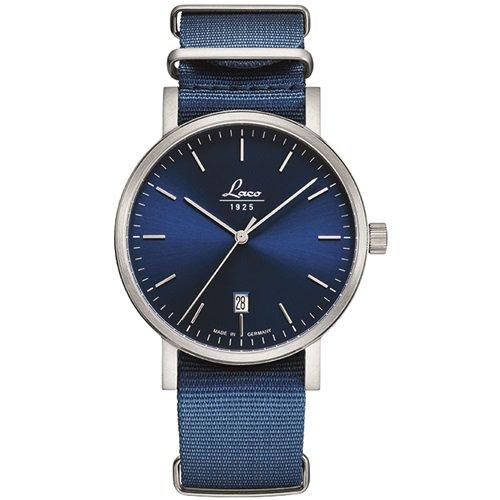 ラコ/LACO/腕時計/クラシックウォッチ/15自動巻き/862075/Azur 40/アズール40/ドイツメイド/ブルー×ブルー